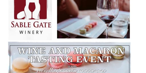 Wine and macaron tasting event
