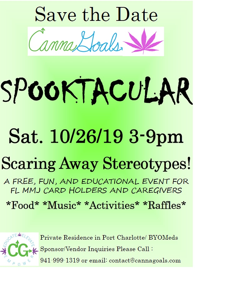 1st Annual CannaGoals Spooktacular image