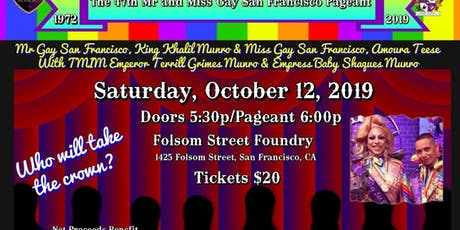 The 47th Mr. & Miss Gay San Francisco Pageant tickets