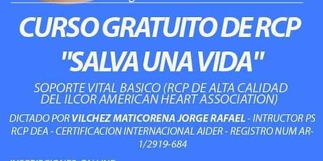 """Curso RCP  """" Salva una vida"""" entradas"""