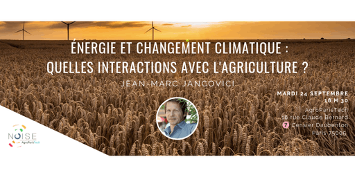 Conférence Energie et Changement Climatique - Jancovici