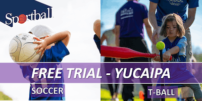 FREE TRIAL - Sportball Soccer & T-Ball/Baseball - ages 2 - 8yrs