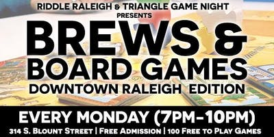 Brews & Board Games (DT Raleigh Edition)