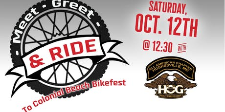 Meet, Greet, and Ride: the Colonial Beach Edition! tickets