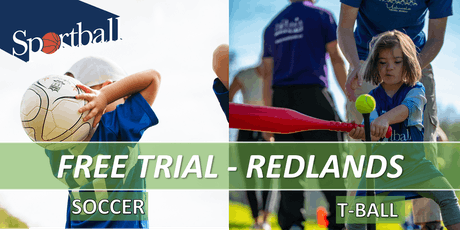 FREE TRIAL - Sportball Soccer & T-Ball/Baseball - ages 2 - 8yrs - Redlands tickets