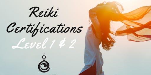 Reiki Training & Certification- Level 1 & 2