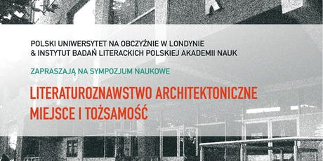 The Architectural Literary Studies: Place and Identity tickets