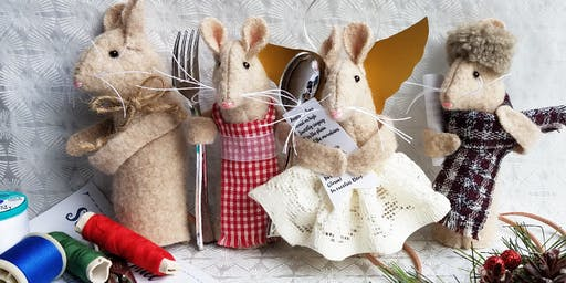 Toymaking: Little Winter Mice workshop at Ragfinery