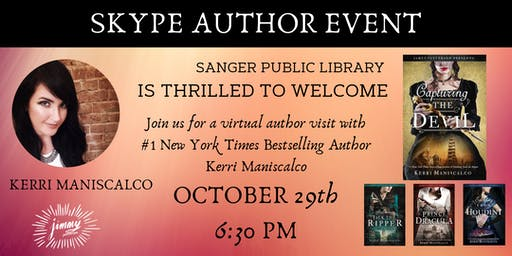 Skype Author Event with #1 NY Times Bestselling Author Kerri Maniscalco