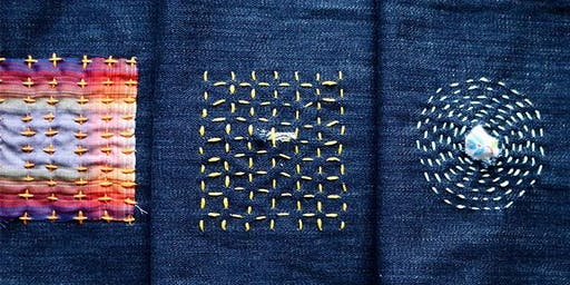 Sashiko Style Mending workshop at Ragfinery
