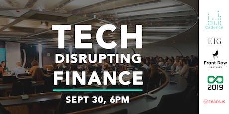 Tech Disrupting Finance tickets