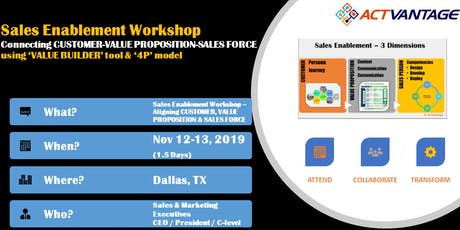 Sales Enablement Workshop: Connecting CUSTOMER-VALUE PROP-SALES FORCE tickets