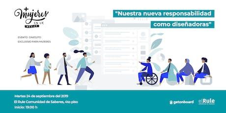 +Mujeres en UX México Meetup Septiembre 2019 entradas