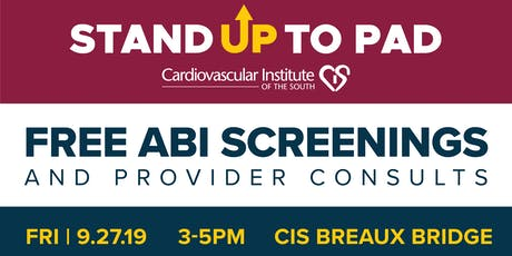 Stand Up to PAD: Free ABI Screening tickets