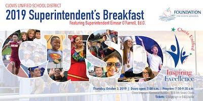 2019 Clovis Unified Superintendent's Breakfast