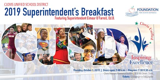 2019 Clovis Unified Superintendent's Breakfast