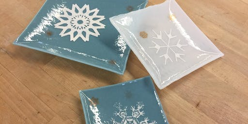 Delicate Decals Plate Set | Fusing Glass at db Studio