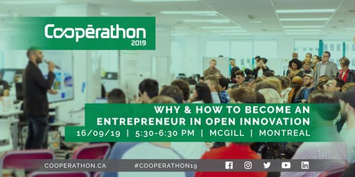 Coopérathon 2019: Why and how to become an Entrepreneur in Open Innovation?