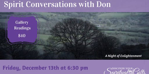 Spiritual Conversations with Don: A Night of Enlightenment