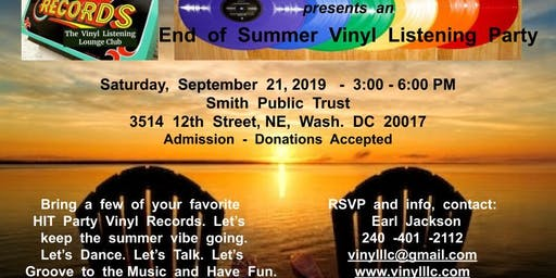 End  of  Summer  Vinyl  Party