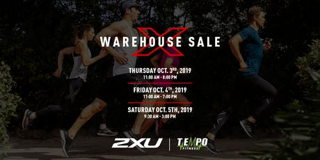 2XU FALL WAREHOUSE SALE 2019! tickets