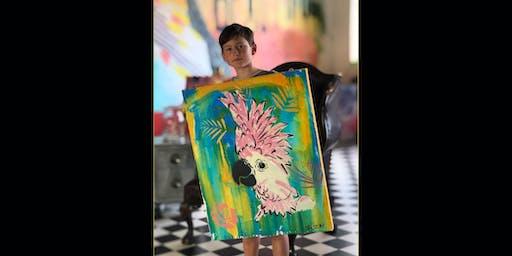 Cheeky Cockatoo School Holidays Painting  26.9.19