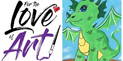 Homeschool Paint Party: Jules the Dragon