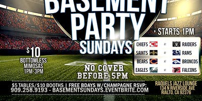 NFL BASEMENT DAY PARTY SUNDAYS Rialto
