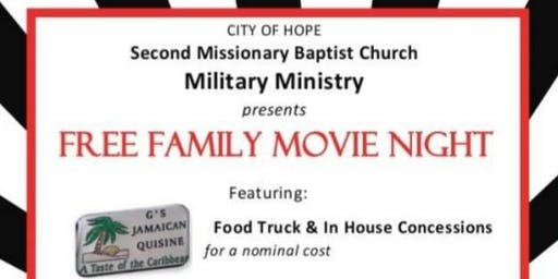 Family Fun Night: Free Movie and G's Jamaican Food Truck