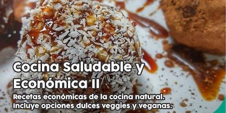 """TALLER GRATUITO """"Cocina Saludable y Económica II"""" - dulces veggie y veganas entradas"""