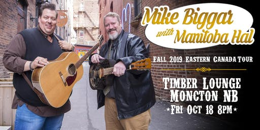 Mike Biggar with Manitoba Hal at Timber Lounge