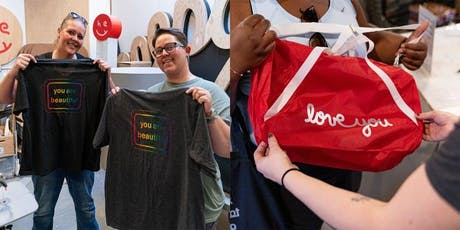 DIY: Decorate your own You Are Beautiful tote, duffel, or t-shirt tickets