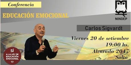 Jornada de Capacitación en Educación Emocional con Carlos Sigvardt entradas
