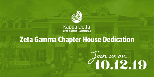 Zeta Gamma Chapter of Kappa Delta House Dedication