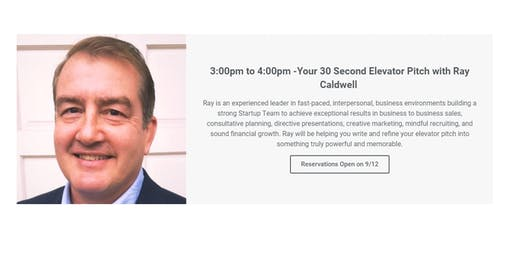 Your 30 Second Elevator Pitch with Ray Caldwell