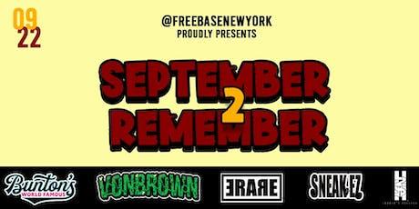 September 2 Remember tickets