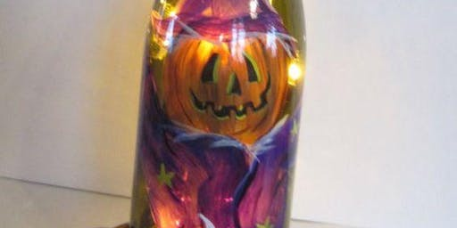 Halloween Lighted Bottle Painting Event