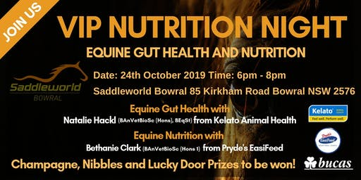 VIP Nutrition Night. Equine Gut Health & Nutrition