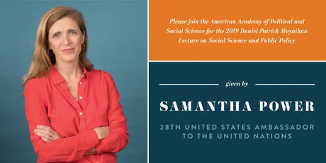 Samantha Power Delivers the 2019 Moynihan Lecture  tickets