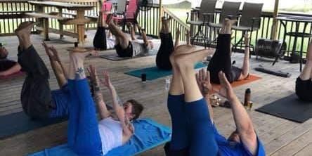 Beer Yoga at Krafty Draft