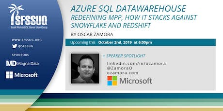 Azure SQL DW. Redefining MPP, how it stacks against Snowflake and RedShift tickets