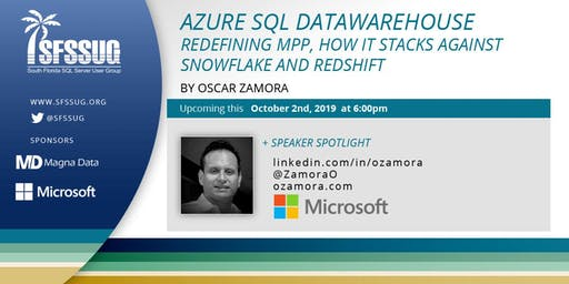 Azure SQL DW. Redefining MPP, how it stacks against Snowflake and RedShift