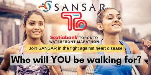 Walk with SANSAR at the Scotiabank Toronto Waterfront Marathon