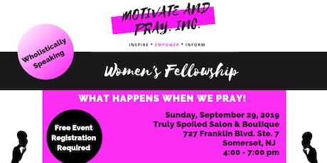 Women's Fellowship - What happens when we pray tickets