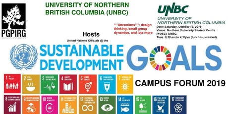 United Nations SDGs Training Forum - UNBC, Prince George Campus tickets