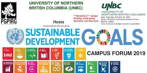 United Nations SDGs Training Forum - UNBC, Prince George Campus