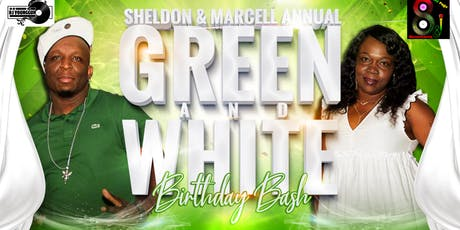 Green and white birthday bash tickets