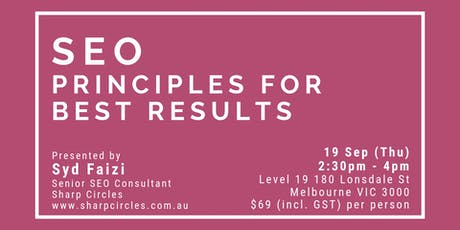 SEO Principles for Best Results tickets