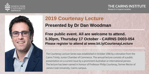 Free public event. 2019 Courtenay Lecture