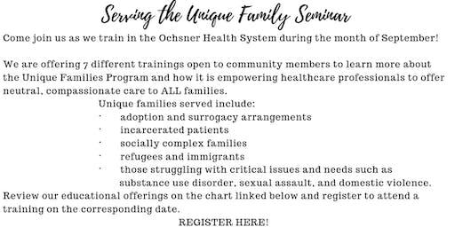 Serving the Unique Family 4-hour Training 9.18.19